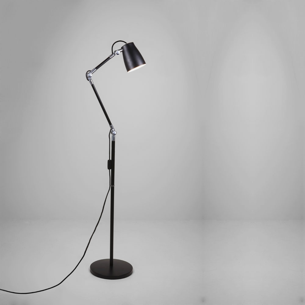 Luxo Spotlight Floor Lamp in Black